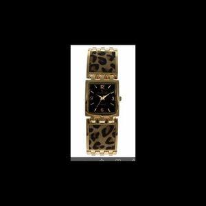 Peugeot Accessories - NIB Peugeot Leopard print bracelet Gold-tone watch